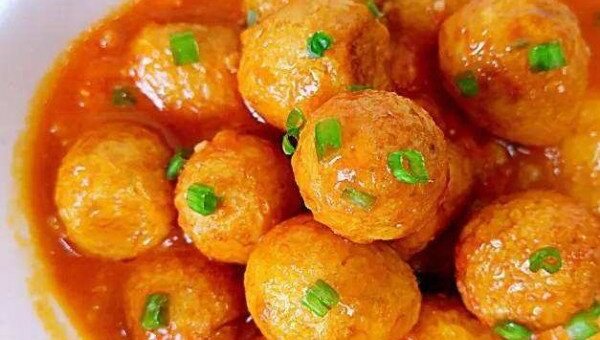 trứng cút chiên sốt chua ngọt